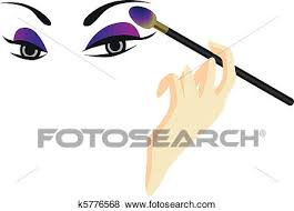 clip art of eyes sketch with make up k5776568 search clipart