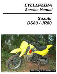 suzuki ds80 jr80 motorcycle cyclepedia printed service manual ebay