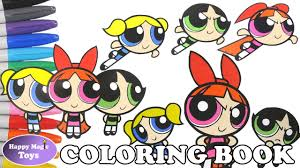 powerpuff girls coloring book pages compilation 5 buttercup