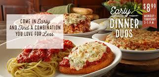 early dinner duos specials olive garden italian restaurants