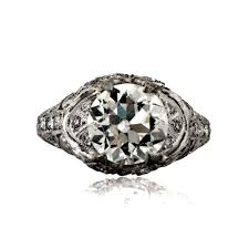 antique engagement rings the edwardian and art deco eras the