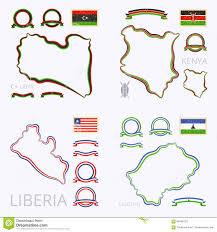 Lesotho Map Colors Of Libya Kenya Liberia And Lesotho Stock Vector Image
