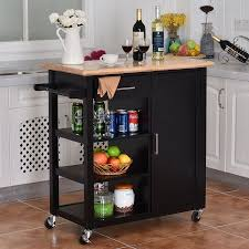 kitchen island with storage cabinets costway 4 tier rolling wood kitchen trolley cart island storage