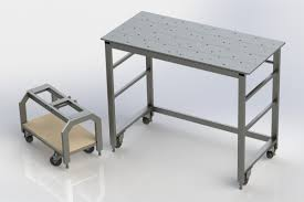 diy welding table plans compact workshop welding area ctm projects