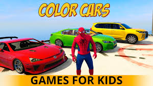 color cars party for children superhero cartoon spiderman epic fun