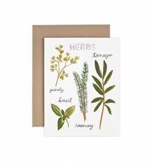 Herbs U0026 Spices Chart Greeting Card By Rifle Paper Co Made In Usa
