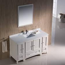 54 Bathroom Vanity Cabinet Fresca Oxford 54 Inch Antique White Traditional Bathroom Vanity