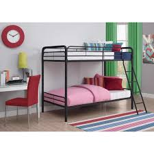 dhp twin over twin metal bunk bed 3135196 the home depot