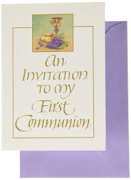 Holy Communion Invitation Cards Samples Amazon Com First Communion Invitations 69644 Health U0026 Personal Care