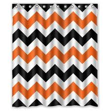 Orange Shower Curtains Best Orange Chevron Shower Curtain Orangechevronshowercurtainglam