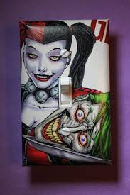 Harley Home Decor by Harley Quinn Joker Batman Light Switch Plate Cover Comic Book