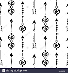 aztec ethnic arrow ornament seamless vector pattern stock vector