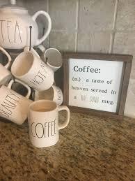 coffee sign rae dunn inspired sign coffee bar sign coffee