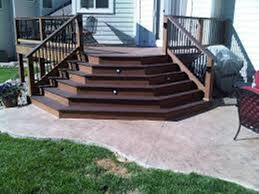 composite deck stair nosing u2014 railing stairs and kitchen design