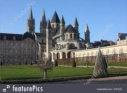 historical architecture caen abbaye aux homes normandy france