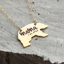 photo gifts necklace images Mama bear necklace mothers day gift momma bear necklace gold jpg