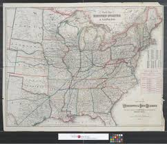 Shortest Route Map by Map Of The Washington U0026 Ohio Railroad With Table Of Distance