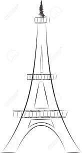 torre eiffel sketch ilustraciones vectoriales clip art