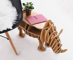 animal leg side table rhino home table diy wood furniture goodielicious