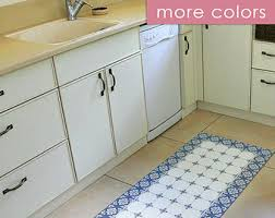 Tile Area Rug Vinyl Area Rug Decorative Grey Tiles Printed On Pvc