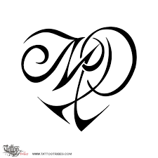 tattoo of m p heart love tattoo custom tattoo designs on