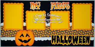 babys 1st halloween blj graves studio baby u0027s first halloween scrapbook page kits