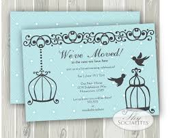 House Warming Invitation Card Birdcage Invitation Housewarming Invitation Change Of