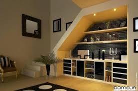 bureau sous pente agencement sous escalier meubles sous pente amenagement bureau sous