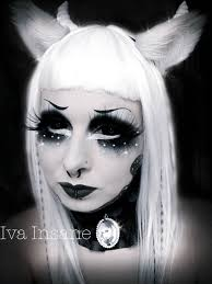 Girls Halloween Makeup Iva Insane Make Up Pinterest Makeup Goth Makeup And Gothic