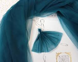 teal tulle teal tulle skirt etsy