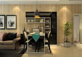 3d house interior design with wood grain wallpaper 3d house