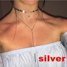 punk choker necklace images Metal star punk choker necklace guayacana jpg