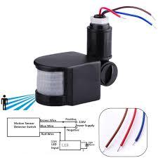 110 220v outdoor led infrared motion sensor detector wall light