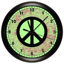 peace sign bedroom lime green peace sign wall clock to match bedroom decor art wall