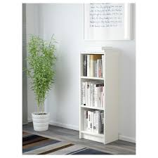 narrow short bookcase billy bookcase white 40x28x106 cm ikea