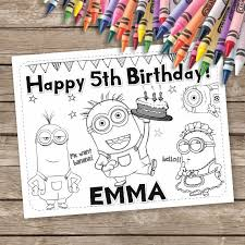minions coloring pages minions birthday activity sheet 6