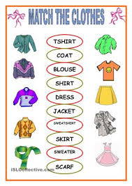 resultado de imagen para clothing esl activities english tips