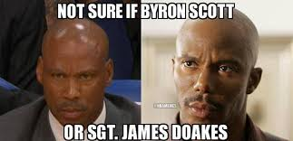 Doakes Meme - nba memes on twitter can t tell if byron scott or sgt james
