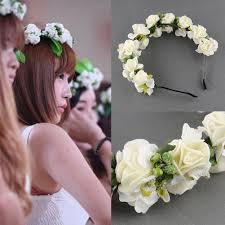Indian Wedding Flower Garlands Flower Garland Floral Bridal Headband Hair Band Wedding Party