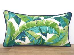 Palm Tree Outdoor Rug Outdoor Palm Leaf Pillow Case 24x14 For Outdoor Furniture