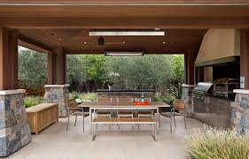 Teak And Stainless Steel Outdoor Furniture by Covered Patio With Teak And Steel Outdoor Dining Table And Chairs