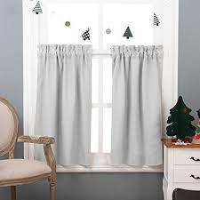 Half Window Curtains Nicetown Half Window Room Darkening Curtains Rod