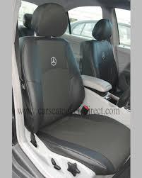 mercedes c class seat covers mercedes c class w203 black leatherette seat covers car seat