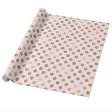 polka dot wrapping paper pink gold polka dot wrapping paper zazzle co uk