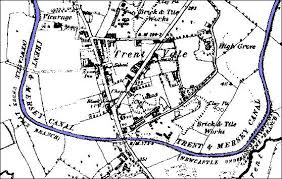 map of newcastle lyme newcastle lyme to stoke canal