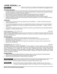 Sample Resume For Custodian by Resume Templates Payroll Analyst Payroll Resume Sample