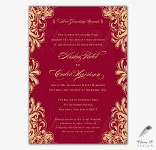 Engagement Invitation Cards Images Red Gold Wedding Invitations Printed Indian Engagement