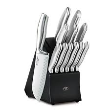 stainless steel kitchen knives set hton forge 13 stainless steel knife set with black