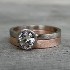 14k palladium white gold moissanite engagement ring forever brilliant recycled 18k