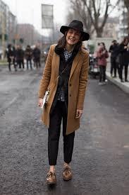 women u0027s brown coat black fur vest white and navy gingham dress